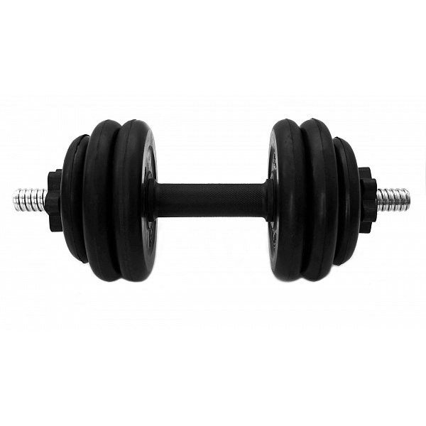 Dumbbells Collapsible Rubberized Antate 14 Kg Removable