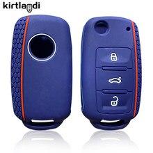 Kirtlandi Auto Schlüssel Abdeckung Fall für VW Golf 4 5 6 7 Bora Jetta POLO MK4 MK6 Passat B5 B6 superb Tiguan Beetle Schlüssel Ketten Sitz Tasche