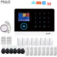 MULO Tuya Alarm System WiFi GSM Security System Burglar Alarm For House Office PG103 SMS Call Auto Dial APP Remote Control