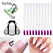 FlorVida 1m 2m Fiberglass Nail Extension Form Tool Clips Plastic Paper Art For Builder Glass Fiber Forms