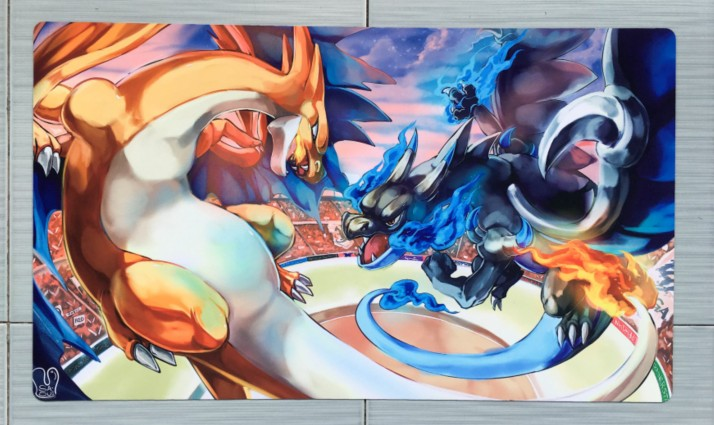 Takara Tomy PTCG Accessories Pokemon Card Board Game Playmat Charizard MEGA Toys For Children