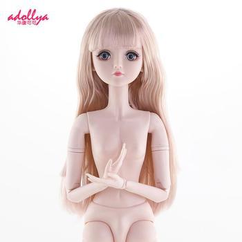 60cm BJD Dolls 1/3 22 Movable Jointe Nude Body Plastic Female Doll Head Naked Dolls For Girls DIY Dress Up  Long Hair Girls Toys 1