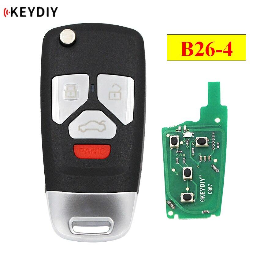 KEYDIY B série KD B26-4 3 + 1 botão universal controle remoto para KD200 KD900 KD900 + URG200 KD-X2 mini KD para o estilo Audi
