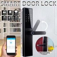 Smart Electronic Lock Fingerprint Door Lock Security Intelligent Lock Wifi Door Lock With bluetooth Password APP Unlock 5 Ways