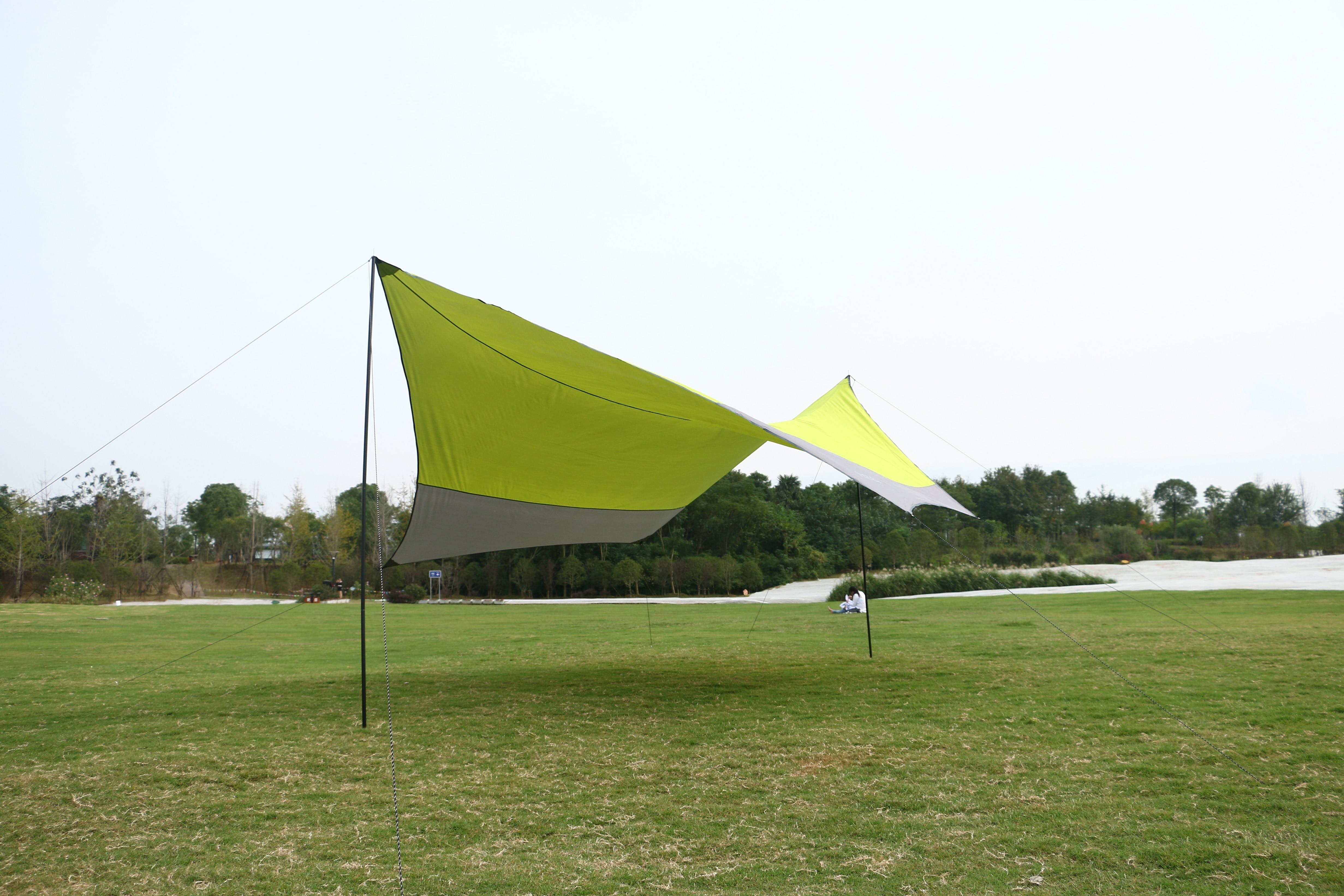Outdoor zonwering doek voor 5 mensen chatten en thee 5 meter open maat gebruikt in camping en picknick, gratis verzending - 4