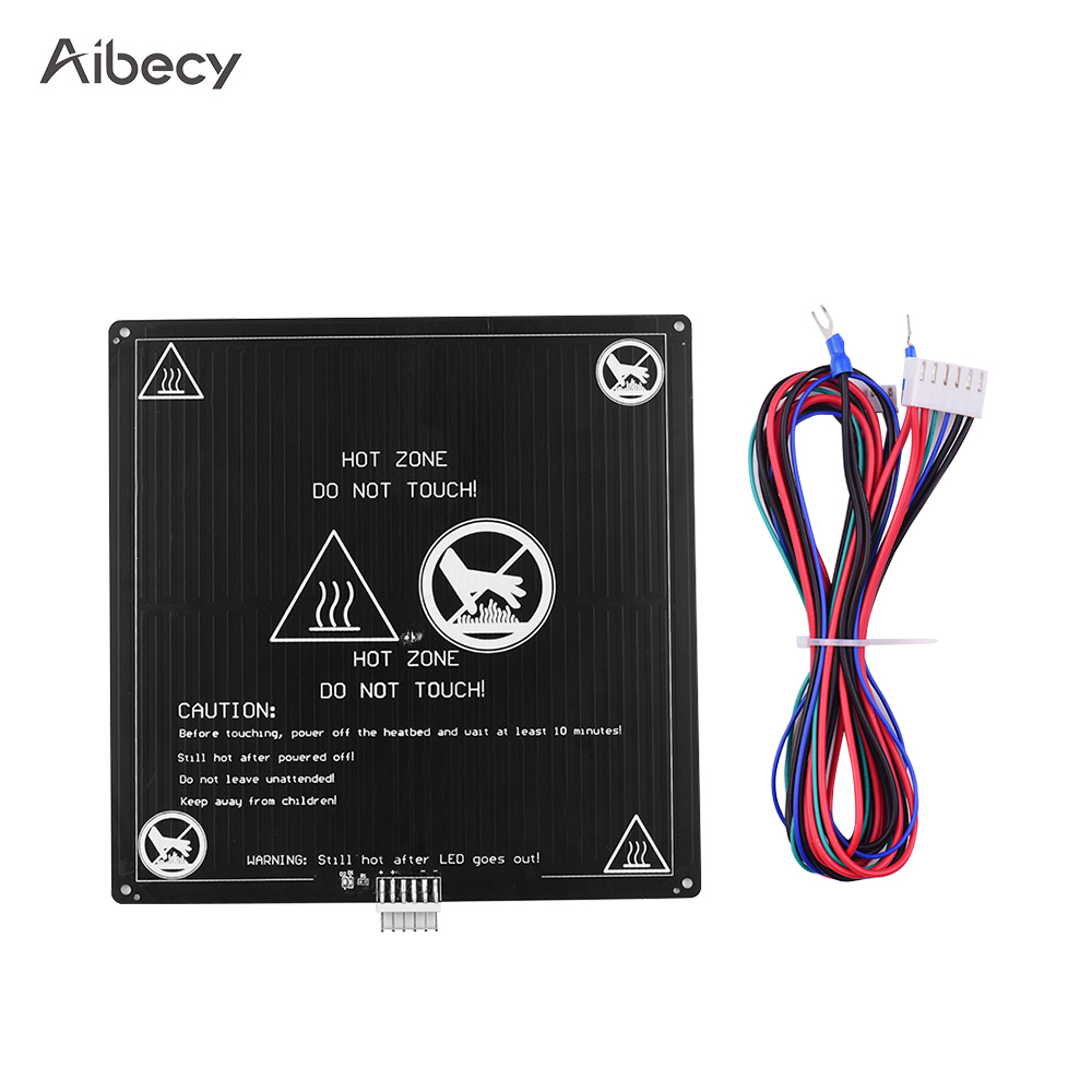 Aibecy Aluminum 12V Hotbed 220*220*3mm Heated Bed With Wire Cable Heatbed Platform Kit For Anet A8 A6 3D Printer Parts