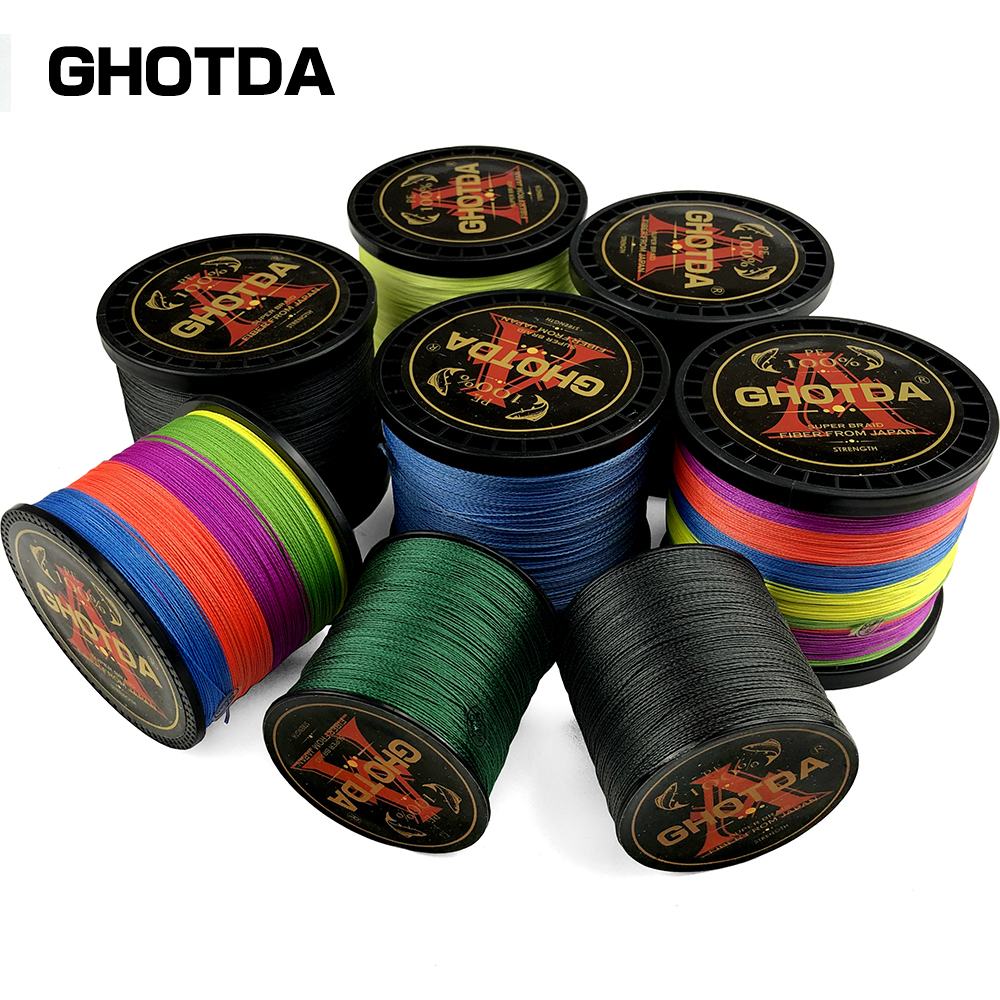 100M 300M 500M Fishing Line 8Strands Japan Braided Multifilament Fishing Line