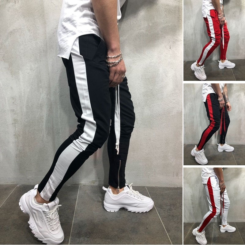 ZOGAA Brand Men Sweatpants Side Stripe High Street Hip Hop Long Trousers Harem Pants Men's Track Pants Casual Sports Jogging