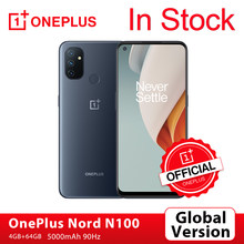 Versão global oneplus nord n100 4gb 64gb smartphone 90hz 6.52 screen cameras tela 13mp triplo câmeras 5000mah 18w oneplus loja oficial