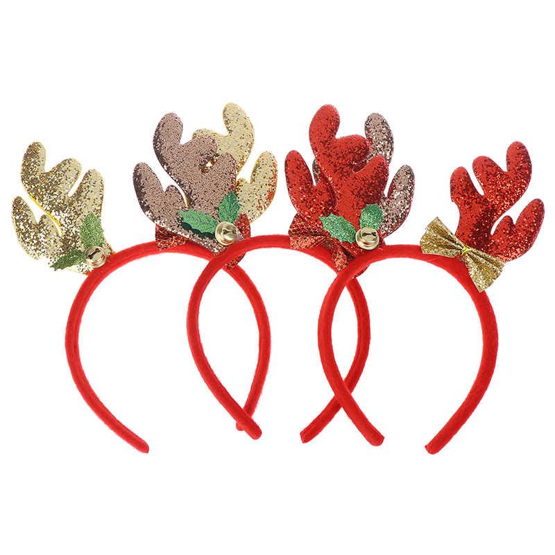 קוספליי צבאים קרני אוזני סרט זהב איל קרנות חג המולד שיער אביזרים לילדים מבוגרים חג מולד חג המולד מתנות