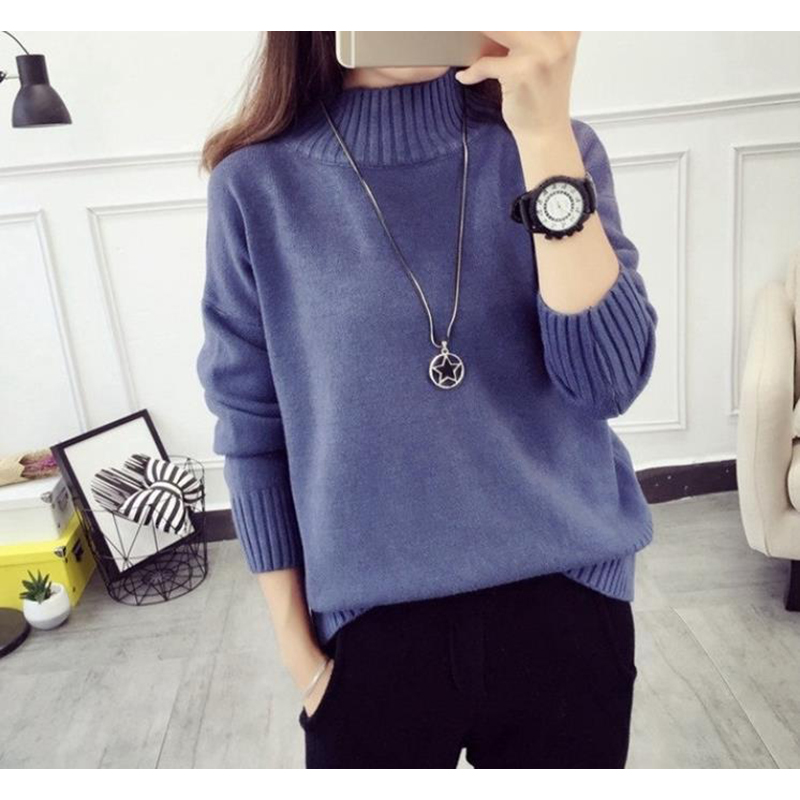 Cashmere Turtleneck Sweater Women 2021 Fashion Autumn Winter Pullover Jumper Pull Femme Hiver Streetwear Casual Knitted Sweater 6