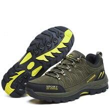 Мужская Уличная походная обувь Водонепроницаемые замшевые Трекинговые кроссовки из коровьей кожи женские прочные нескользящие альпинистские кроссовки для туризма Большие размеры