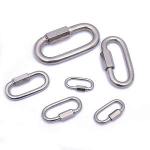 Buckle Carabiner-Chain Screw-Lock Connecting-Ring Climbing-Gear-Carabiner Quick-Links