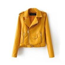 Autumn Short Faux Leather Jacket Women 2019 Basic Jacket Fas
