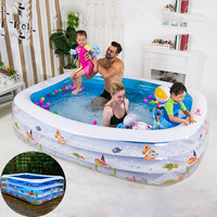 Children Paddling Pool Inflatable Family Swimming Pool Inflatable Bathtub Kids Summer Water Fun Play Toys Baby Bath Swim Tubs