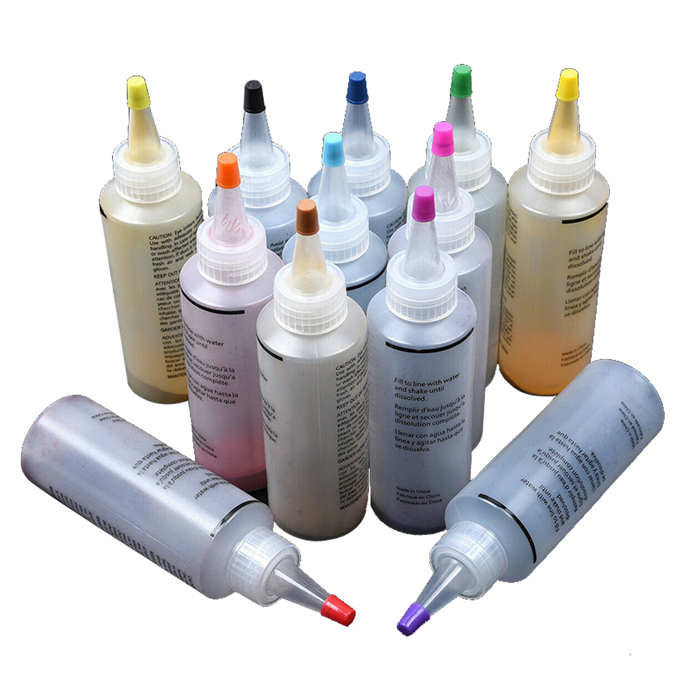 12pcs Permanent DIY Accessories Tie Dye Kit Clothing Graffiti Fabric Non Toxic Colorful Jacquard Craft Textile Paints