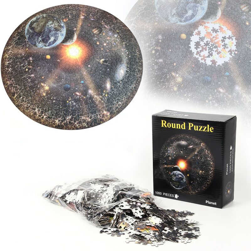 Lua terra 1000 peças quebra-cabeças brinquedos educativos cenário espaço estrelas quebra-cabeça educacional brinquedo para crianças/adultos presente de aniversário