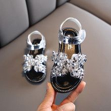 ULKNN Sandals Baby Girls Shoes Summer Diamond Sandals Princess Shoes For Girls Kids Sandals For Open Toe Kids Party Shoes