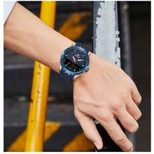 Роскошные Брендовые мужские спортивные часы, мужские военные часы, цифровой светодиодный Аналоговый часы, модные кварцевые наручные часы с хронографом, reloj hombre