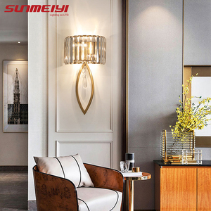 Image 4 - Luxury Led Wall Lamps For Living room Bathroom Corridor Stairs Loft Lamp Modern Bedroom Crystal Wall Light specchio da parete
