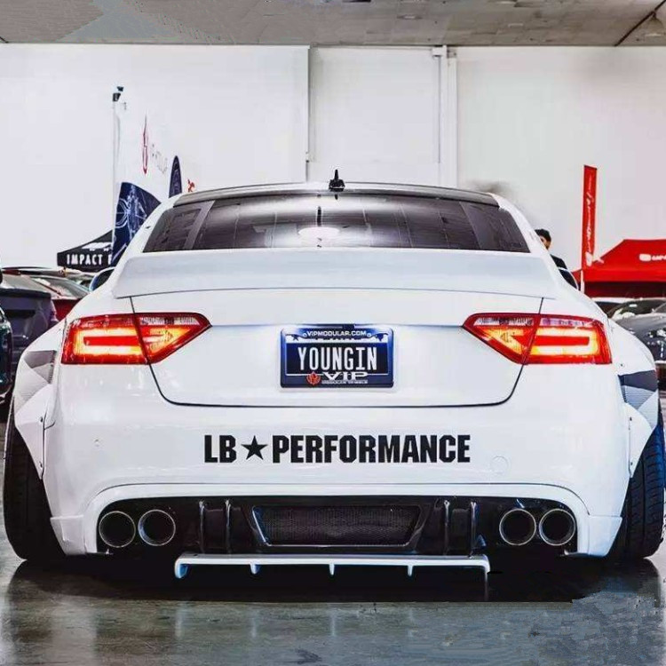 JL 70cm*7cm Lb Performance Works LibertyWalk Personality Car Stickers Motion  Vinyl Decals