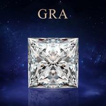 Gevşek taş mozanit taş 3.5mm için 10mm D renk VVS1 prenses kesim dağınık boncuklar kadınlar için takı elmas halka malzemesi