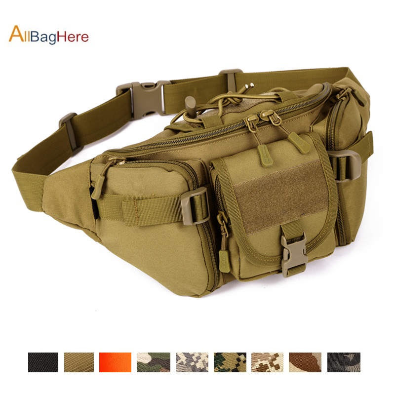 Outdoor Tactical Hunting Chest Bag Military Fishing Hiking Army Waist Pack For Travel  Sport Hiking Cycling Waterproof Waist Bag