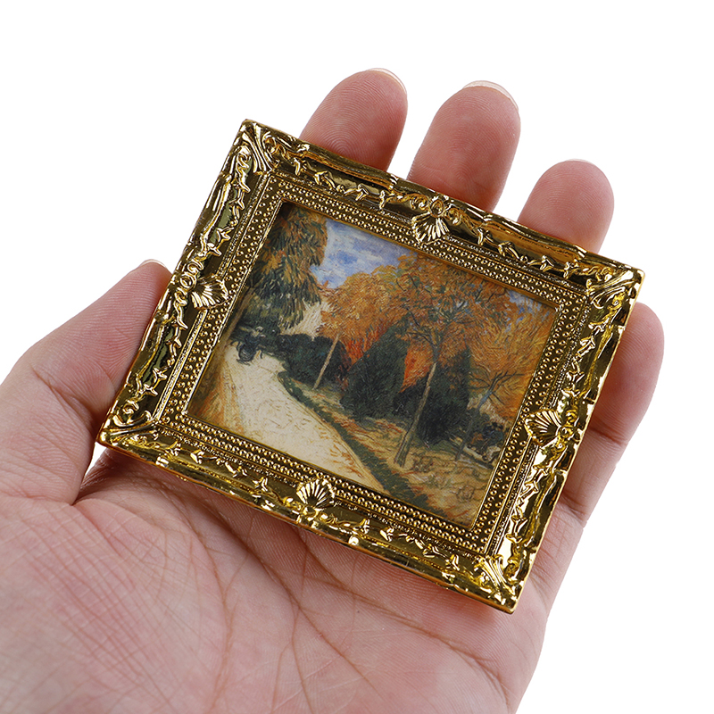 1:12 Dollhouse Miniature Decorative Oil Painting DIY Doll House Accessories