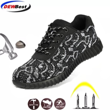 Steel Toe Safety Shoes Men Women Breathable Mesh Industrial& Construction Puncture Proof Work Shoes Protective Footwear