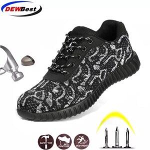 Image 1 - الصلب أحذية سلامة بفتحة لأصبع القدم الرجال النساء تنفس شبكة الصناعية والبناء ثقب برهان أحذية عمل واقية