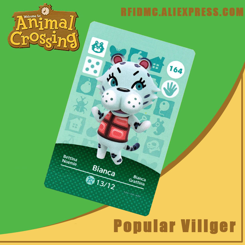 164 Bianca Animal Crossing Card Amiibo For New Horizons