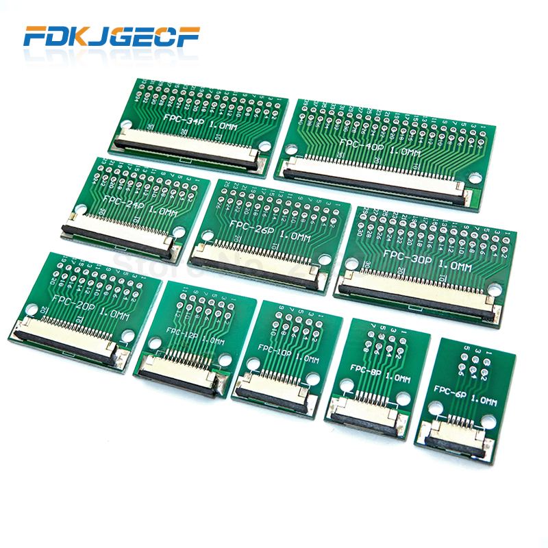 FPC/FFC flat cable transfer plate is directly inserted DIY 0.5 mm 1mm spacing connector 6P/8P/10P/20P/30P/40P/60P