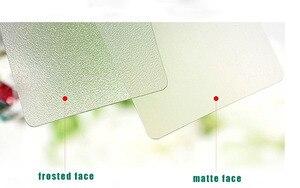 Image 5 - 90x51mm 200pcs Melhor qualidade Fosco Matt cartão em branco PVC cartão de visita transparente de plástico transparente cartões de visita CMYK impressão