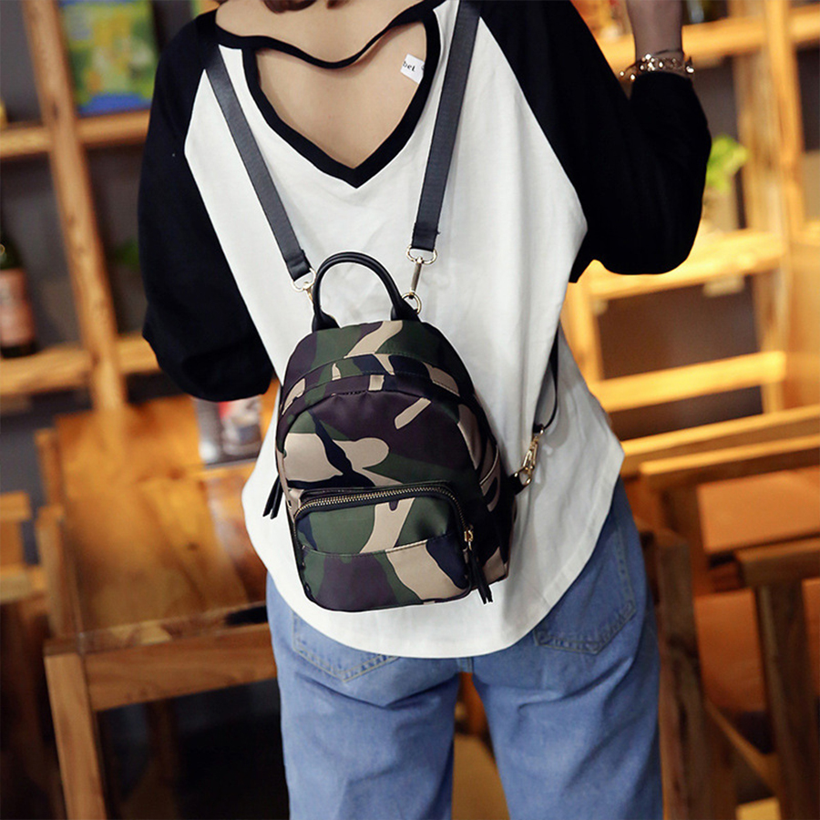 Women Backpack New Simple Mini Casual Backpacks Fashion Camouflage Female Student Backpack Woman Bagpack