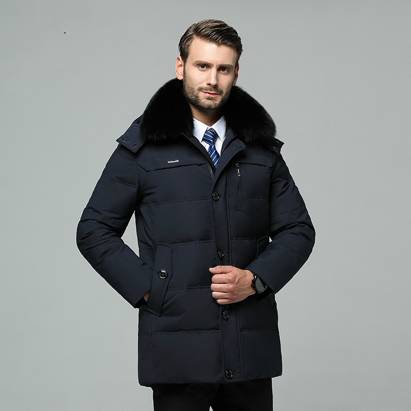 Mne's Down Jacket Long Winter Coat Duck Down Coats Warm Plus Size Puffer Jacket Men Feather Doudoune Homme 8-788 KJ3047
