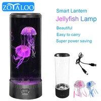 Lámpara LED de Medusa para mesita de noche, luz de noche con USB, para escritorio, Acuario de fantasía, Color hipnótico, decoración del hogar