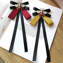 Английская черная лента пчела бантик Галстуки для женщин винтажный