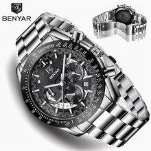 BENYAR Mens Watches Top Brand Luxury Watch Quartz Military Wristwatche