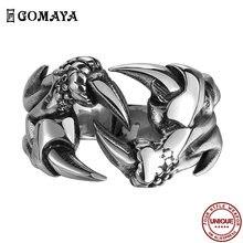 Gomaya мужское кольцо в стиле хип хоп металлическое готическом