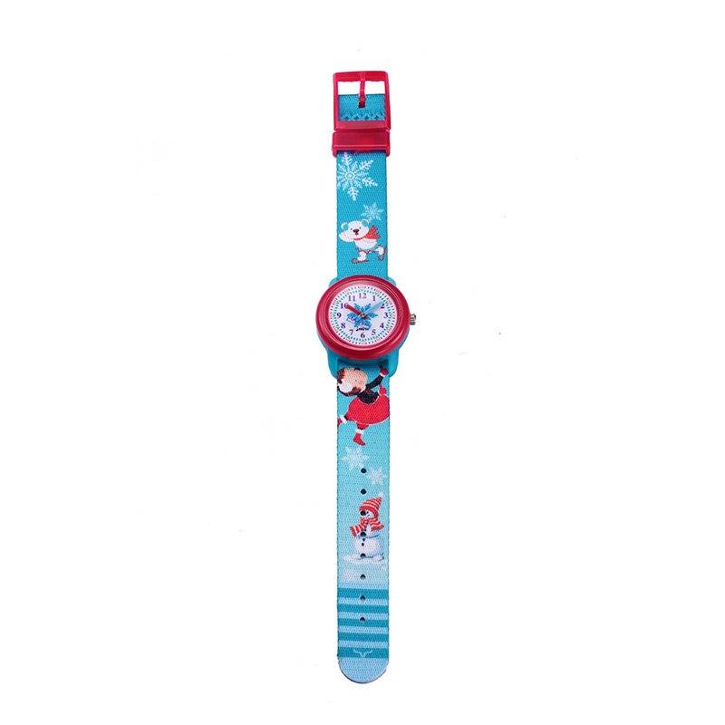 TurnFinger водонепроницаемый детский% 27s кварц часы тканый ремешок серия милый мультфильм щенок и маленькая девочка узор мода роскошь подарок