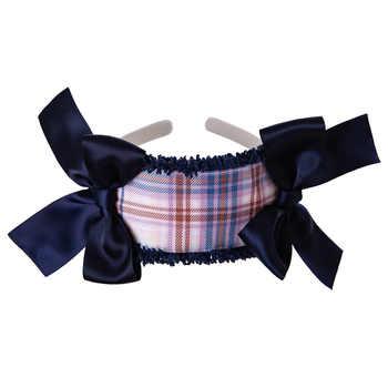 Pettigirl Wholesale Autumn Plaid Baby Girls Dress With Headband Ruffles Kids Party Dresses Children Clothes G-DMGD206-147