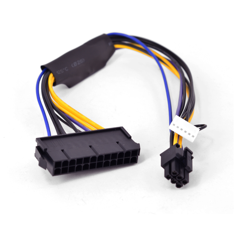 For HP Compaq 8300 8380 8000 EliteDesk 880 G1 ProDesk 600 G1 TWR Desktop Motherboard 6 Pin To ATX 24 Pin Power Supply Cable