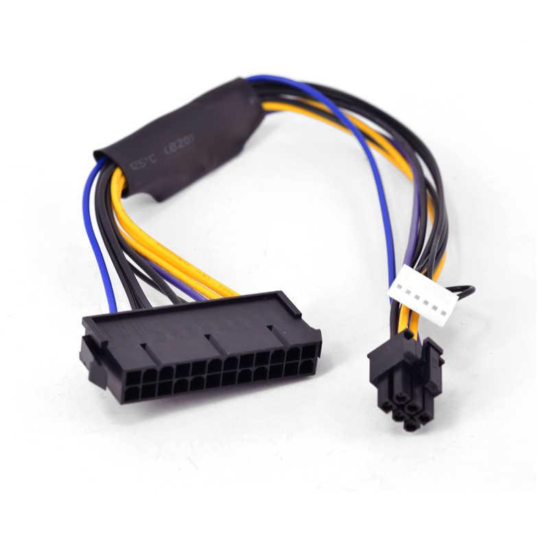 Для hp Compaq 8300 8380 8000 EliteDesk 880 G1 ProDesk 600 G1 твр рабочего Материнская плата 6 Pin к блок питания ATX 24 Pin Питание кабель