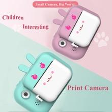 Камера Мгновенной Печати для детей, детская фотокамера с сенсорным экраном для детей, развивающие игрушки, лучший подарок для девочек и мал...