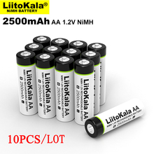 10 stücke Original Liitokala 1,2 V AA 2500mAh Ni Mh akku aa für Temperatur gun fernbedienung maus spielzeug batterien