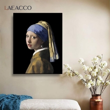 Earring-Painting Retro-Poster-Picture Living-Room-Decoration Johannes The-Pearl Canvas