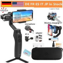 Moza estabilizador de cardán de carga inalámbrica para teléfono inteligente iPhone 11/X/8, Huawei, Samsung Galaxy, carga de juego: 300g, Vlog, 3 ejes