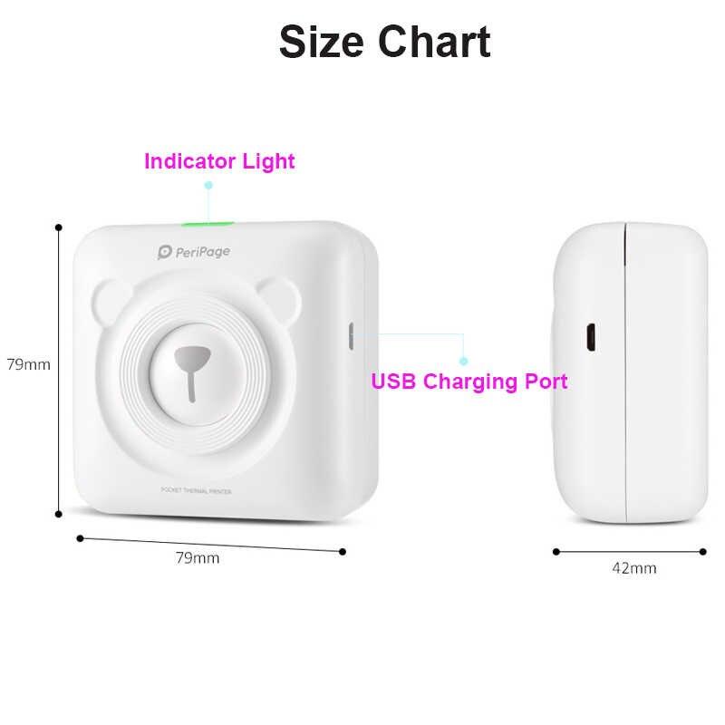 JEPOD Peripage A6 Di Động Bluetooth Máy In Ảnh Nhiệt 58MM Bỏ Túi Hình Máy In Cho IOS Android Hệ Thống Điện Thoại Di Động