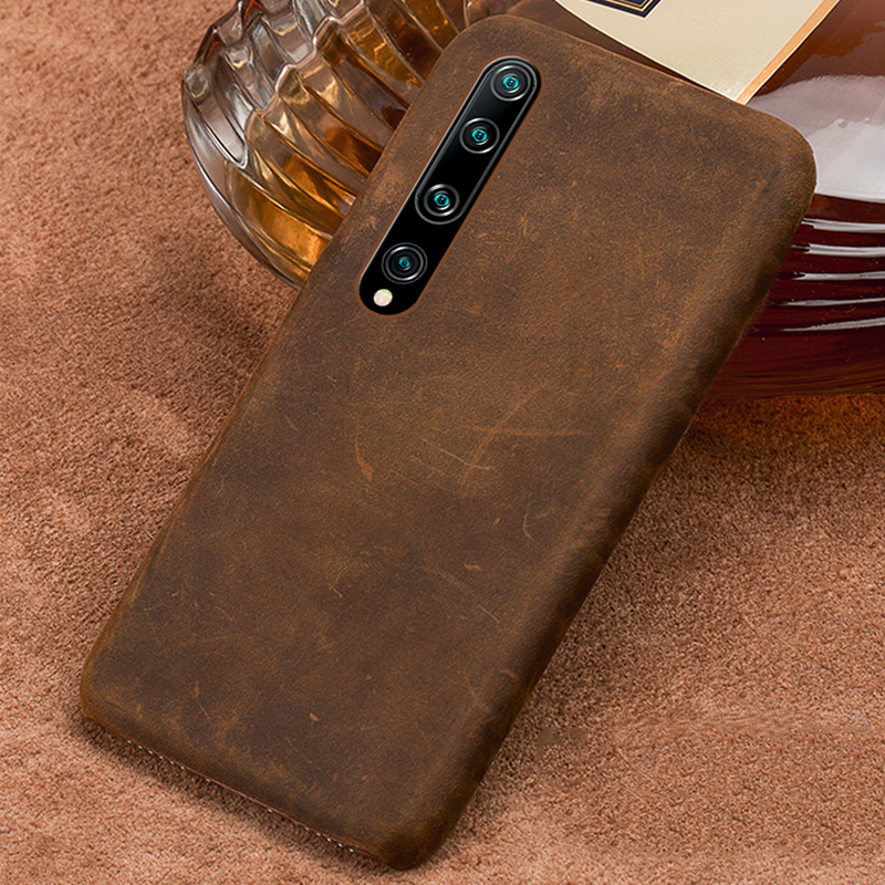 Genuine PULL-UP Leather Phone Case For Xiaomi Mi 10 10 Pro 9 Lite 9T 8 A3 A2 Shell Cover For Redmi Note 8 Pro 8T 8 Note 7 5 Plus