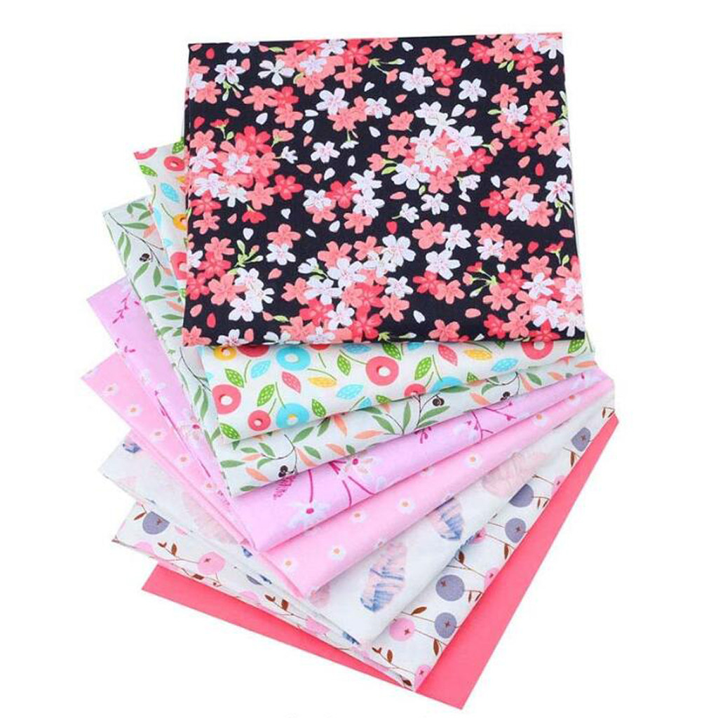 40*50CM Patchwork Flower Printed Cotton Fabrics DIY Sewing Assorted Pattern Cotton Cloths Handmade Needlework Crafts 8PC D3